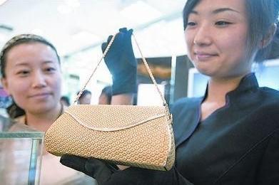 时尚奢华最贵钻石黄金钱包
